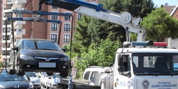 Usulsüz araç çeken polis çetesine şok!