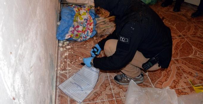 Uyuşturucu operasyonunda 15 el yapımı patlayıcı bulundu