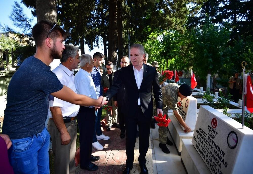 Vali Gül'den şehitlik ve huzurevi ziyareti
