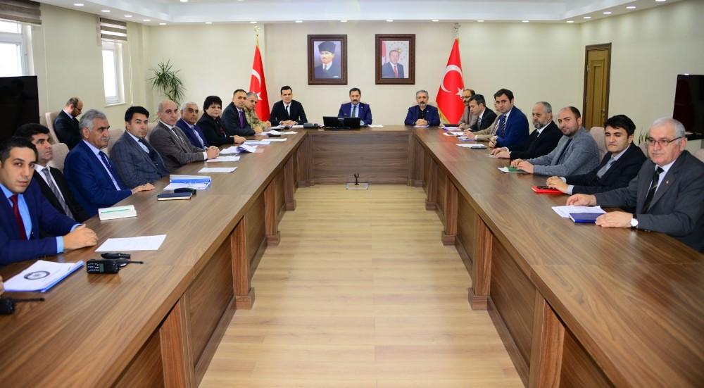 Vali Mustafa Masatlı başkanlığında Uyuşturucu ve Bağımlılıkla Mücadele Değerlendirme toplantısı yapıldı
