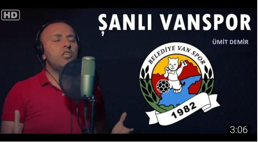 Van Büyükşehir Belediyespor için marş yazdı