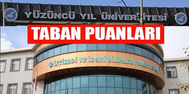 Van Yüzüncü Yıl Üniversitesi taban puanları 2019