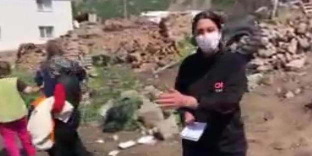 Vatandaşlar kendini yere attı! CNN Türk muhabiri Fulya Öztürk canlı yayında depreme yakalandı