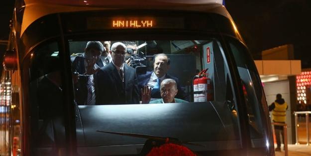 Ve açıldı... Test sürüşünü Başkan Erdoğan yaptı