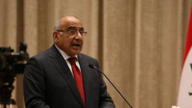 Ve Irak Başbakanı Adil Abdulmehdi istifa etti!