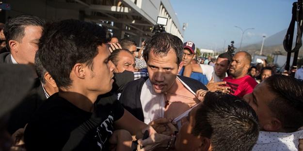 Venezuela'da darbeci Guaido'ya linç girişimi!