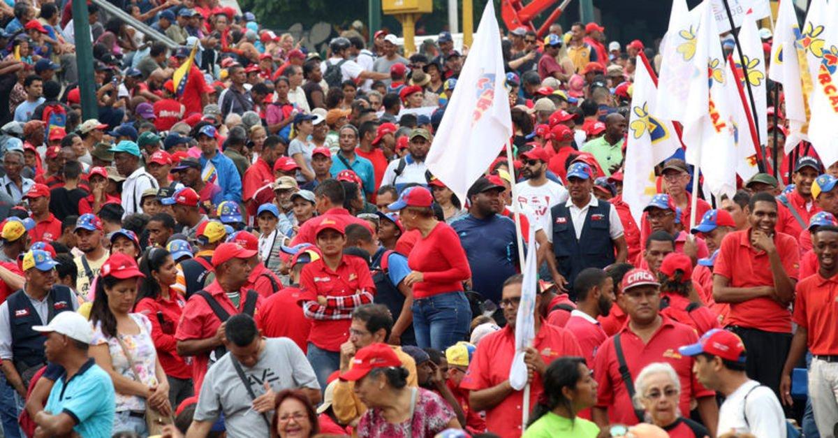 Venezuela'da Devlet Başkanı Maduro için destek yürüyüşü