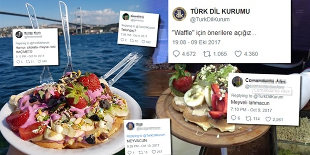'Waffle'ın Türkçe karşılığı sorulunca sosyal medya yıkıldı
