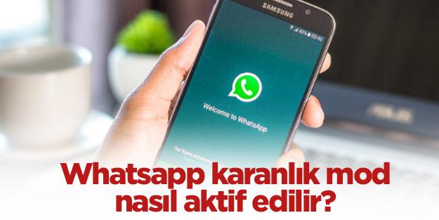 WhatsApp'a karanlık modu geldi mi? Whatsapp karanlık mod nasıl aktif edilir?