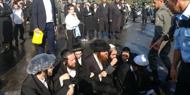 Yahudilerle polis arasında çatışma!