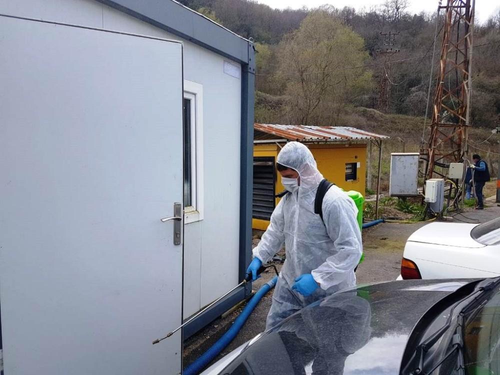 YAKAB'ta dezenfekte çalışmaları yapıldı