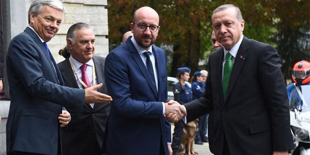 Erdoğan Belçika Başbakanı'nı fena bozmuş