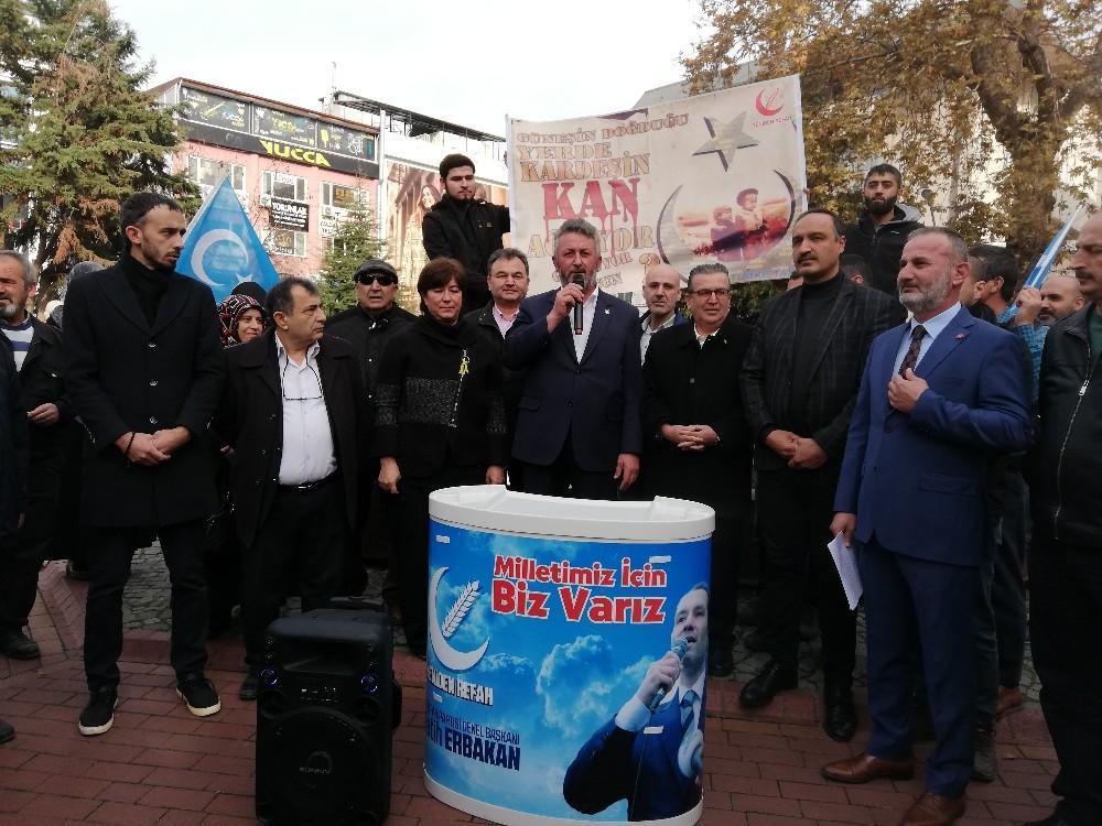 Yalova'da 4 partiden Çin zulmüne ortak kınama