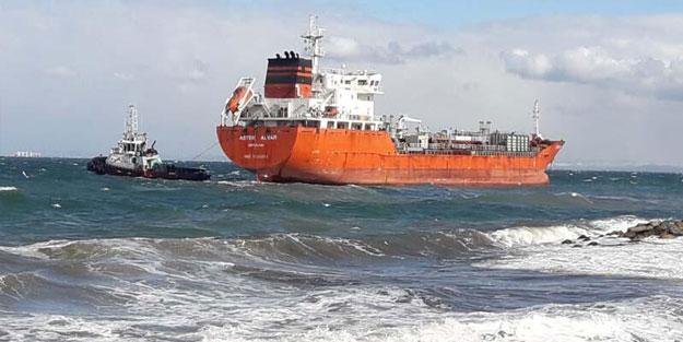 Yalova'da tanker karaya oturdu!