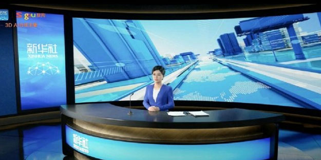 Yapay zekaya sahip spiker 3 boyutlu yayın yaptı