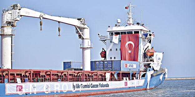 Yardım gemisi Gazze yolunda