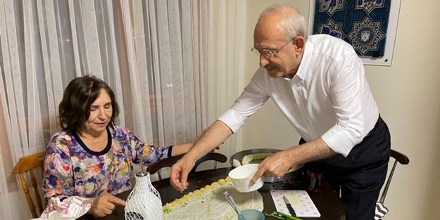 """""""Yavaş yavaş ısındırılan bir şey var"""" Kılıçdaroğlu'nun börek açma pozu mesaj mı?"""
