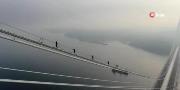 Yavuz Sultan Selim Köprüsü'nde dikkat çeken görüntü
