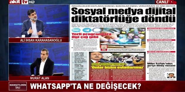 Yeni güncelleme nedir ne değildir? WhatsApp gerçeği Akit TV'de masaya yatırıldı
