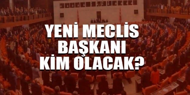 Yeni Meclis-TBMM Başkanı kim olacak?