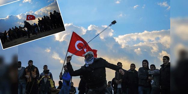 Yer Gazze: Protestolarda Türk bayrağı açtılar
