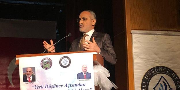 """Yerli Düşünce Açısından Türkiye'nin Dünyadaki Algısı"""" konferansı Aydın'da gerçekleştirildi"""