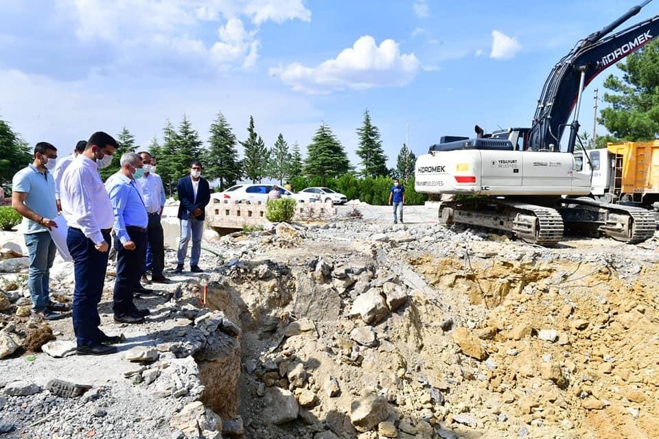 Yeşilyurt Şahin Tepesi Tesislerinin yapım işi başladı