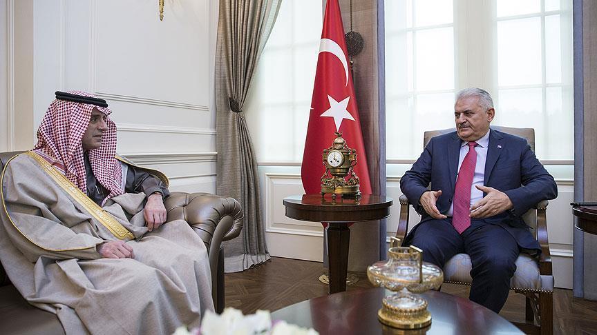 Yıldırım Suudi Arabistan Dışişleri Bakanı Cubeyr'i kabul etti