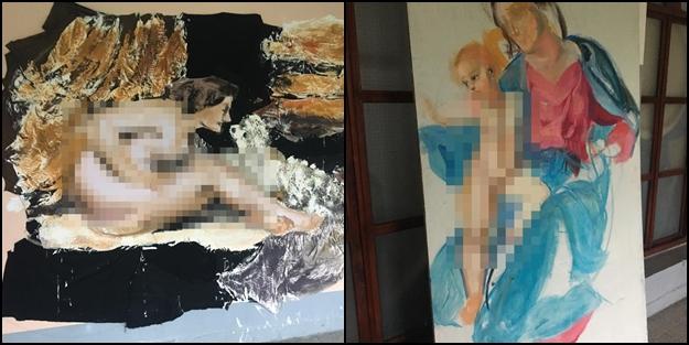 Yıldız Teknik Üniversitesi'nde sanat adı altında rezalet! Kadın ve çocuk bedeni teşhir edildi