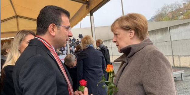 Yine gezmeye giden İmamoğlu, Almanya'da Merkel'le sohbet etti