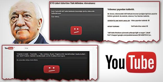 Youtube ve FETÖ'nün skandal sansür ortaklığı