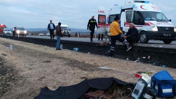Yozgat'ta feci kaza! Ölü ve yaralılar var