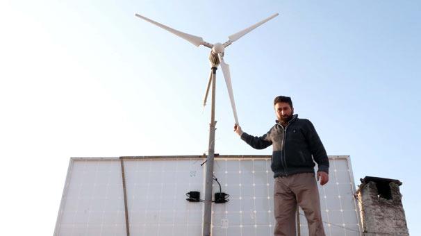 Yozgat'ta güneş ve rüzgarla kendi elektriğini kendisi üretiyor