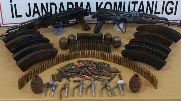 Yüksekova ve Çukurca'da PKK cephaneliği ele geçirildi