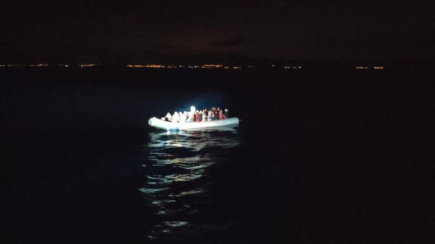 Yunan Sahil Güvenlik unsurlarınca geri itilen 79 sığınmacı kurtarıldı