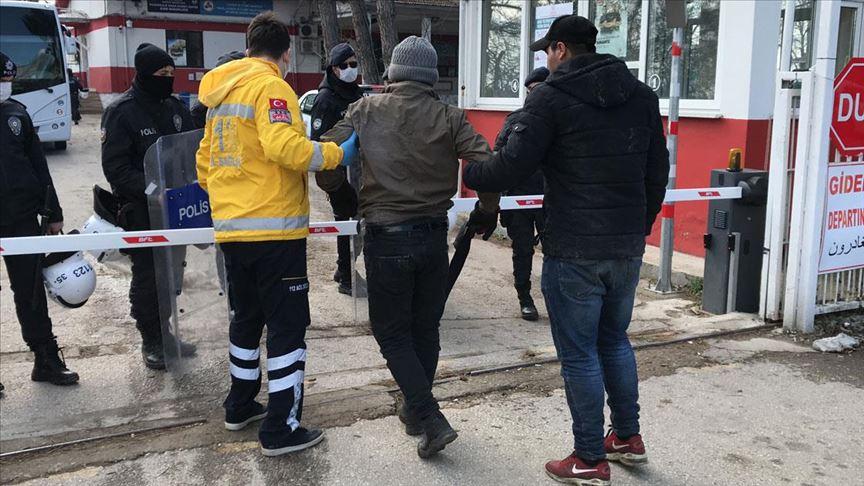 Yunan sınırındaki müdahalede yaralanan göçmenler hastaneye kaldırıldı