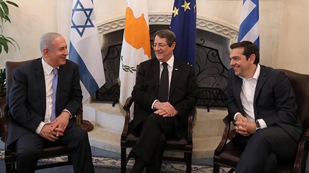 Yunanistan-İsrail-Güney Kıbrıs üçlüsü Doğu Akdeniz'de işbirliğini artırıyor