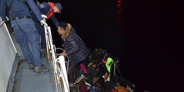 Yunanistan'a gitmeye çalışan onlarca düzensiz göçmen yakalandı