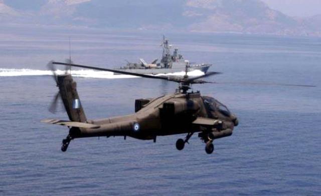 Yunanistan'da askeri helikopter düştü!
