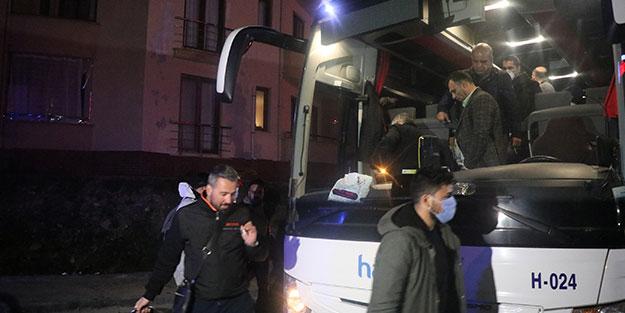 Yunanistan'dan İstanbul'a getirildiler, Bolu'da karantinaya alındılar
