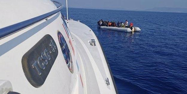 Yunanistan'ın Türk karasularına ittiği 40 sığınmacı kurtarıldı