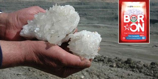 Yüzde yüz yerli ve milli! Bor madeninden üretildi