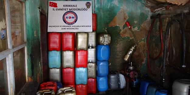 Yüzlerce litre kaçak mazot ele geçirildi