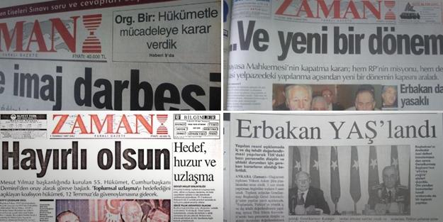 Zaman'ın 28 Şubat sürecindeki utanç manşetleri