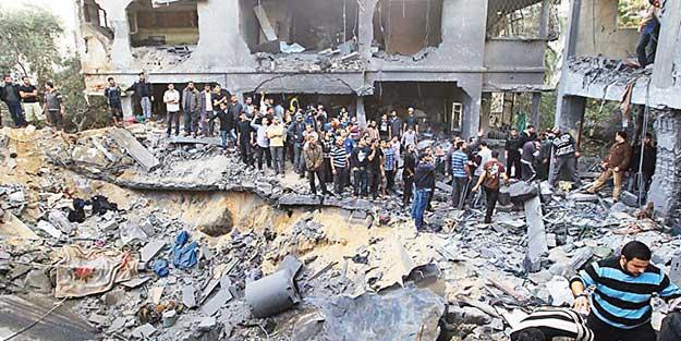 ZARAR 6 MİLYON DOLAR! SİYONİSTLER GAZZE'DE YİNE YIKIM BIRAKTI