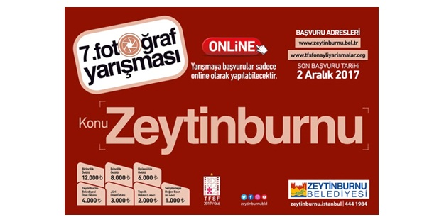 Zeytinburnu 7. Fotoğraf Yarışması Başladı