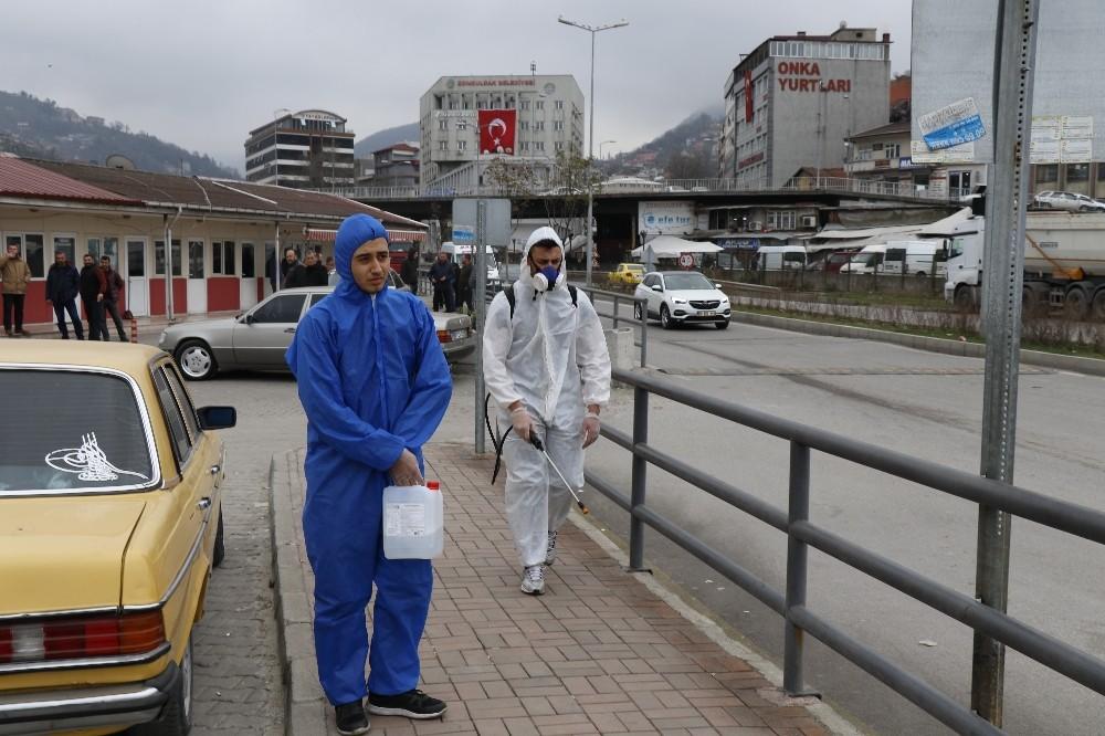 Zonguldak'ta dezenfekte çalışmaları başladı