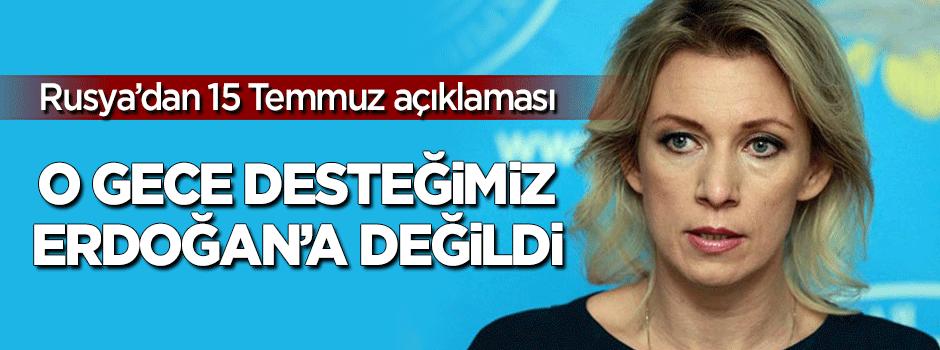 """""""15 Temmuz'da bizim desteğimiz Erdoğan'a değildi"""""""