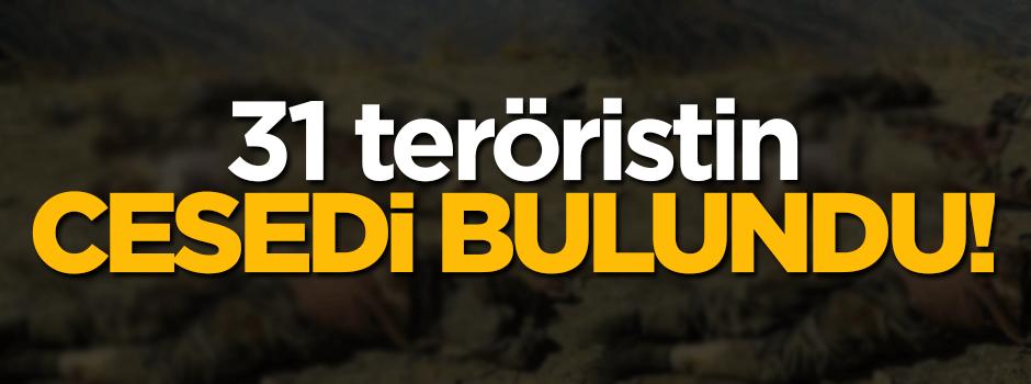 31 teröristin cesedi bulundu!