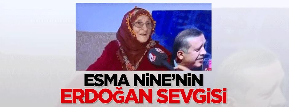 95 yaşındaki Esma Nine'nin Erdoğan sevgisi